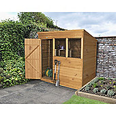 Forest Garden 7x5 Overlap Dip Treated Pent Shed
