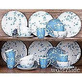 24 Piece Blue Meadow Dinner Set