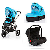 ABC Design Cobra 3 in 1 Pram Travel System - Rio (Silver Frame)