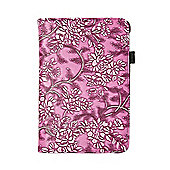iPad Mini 1 / 2 & 3 PU Floral Smart Flip Over Cover Case - Pink