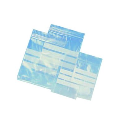 2.25X3 Polythene Grip White Panel Sealable Bag 100 Pack