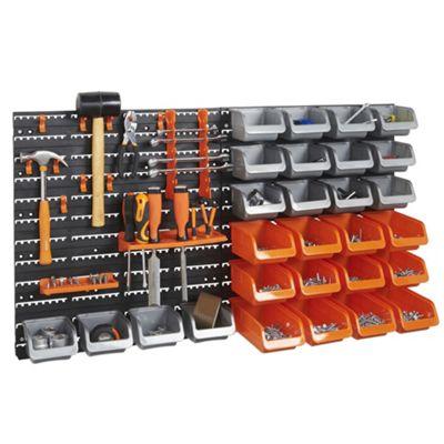 VonHaus 44pc Wall Bin Storage