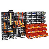 VonHaus 44pc Wall Bin Storage