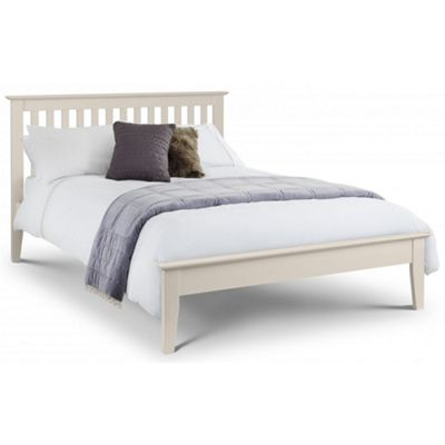 Premier Stone White Shaker Style Bed Frame Double Low Foot End - 4'6