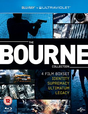 Bourne 1-4 Blu-Ray Boxset With Uv