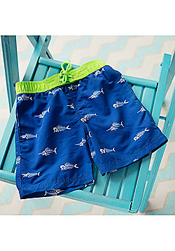 Big Fisch Boys Fish Swim Shorts   Royal - Royal blue