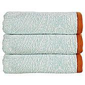 Kingsley Home Damask Bath Towel Aquamarine
