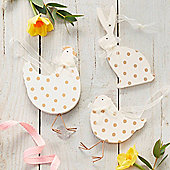 Gold & White Easter Decorations