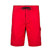 Mountain Warehouse Mens Beach Shorts with Polyester Durable and Soft Ventilated - Red