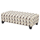 Boston Accent Footstool, Taupe