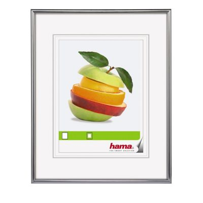 Hama Sevilla Matt Silver Plastic Frame to fit a 13x18cm Photo.