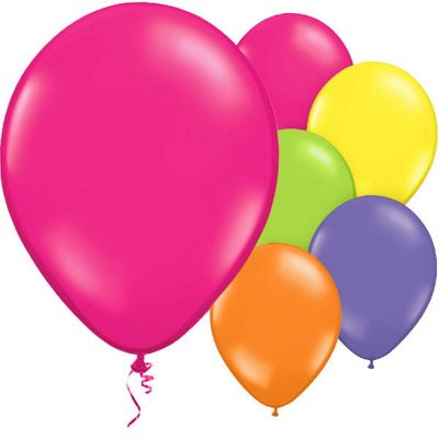 Assorted Colours 11 inch Latex Balloons - 50 Pack