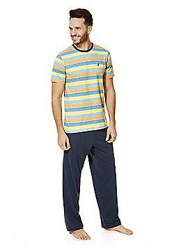 F&F Striped Top Loungewear Set - Blue