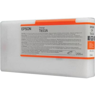 Epson T653A UltraChrome K3 Ink Cartridge - 200ml (Orange) for Epson Stylus Pro 4900