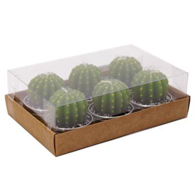 Cac-T-Lite Individual Cactus Tea Lights, Set of 6