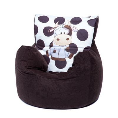 Brown Cow Children's Character Micro Suede Bean Bag Chair