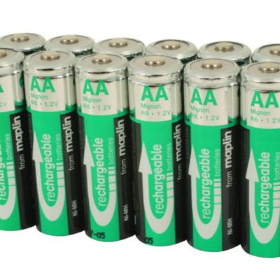 12 Rechargeable AA Battery NiMh 2000Mah Value Pack