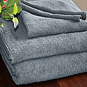 Homescapes Turkish Cotton Grey Face Towel