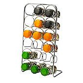 Hahn 18 Jar Spice Rack, Chrome