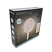 Daewoo 16 Inch Oscillating Pedestal Fan - White