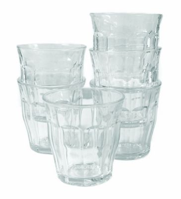 Duralex Picardie Glass Tumblers 220ml, Clear, Set of 6 1026AB06
