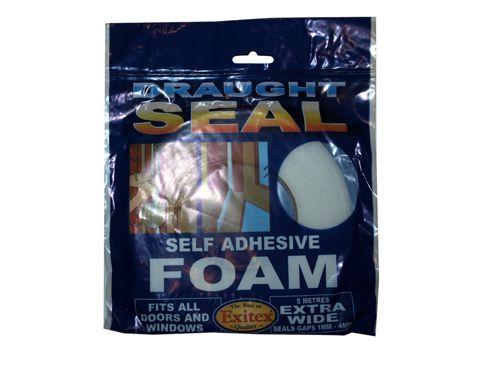 Exitex Saf Extra Wide Self Adh.Foam White 5M N