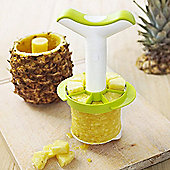 Vacuvin Plastic Pineapple Slicer and Wedger - White/Green