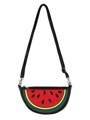 Watermelon Slice Cross Body Handbag 22x12x8cm