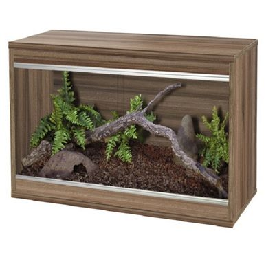 Viv-exotic repti-home vivarium Medium - Walnut