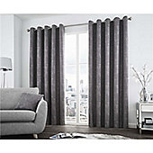 Curtina Solent Graphite Eyelet Curtains - 90x72 Inches (229x183cm)