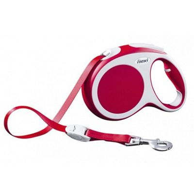 Flexi Vario S Extending Dog Lead - Red (Tape) 5m