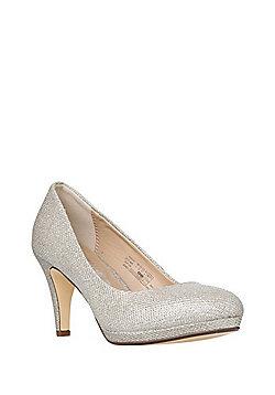 F&F Sensitive Sole Shimmer Court Shoes - Gold