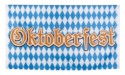 Oktoberfest Blue & White Large Polyester Flag Party Supplies 150X90cm