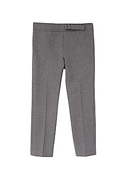 F&F School Girls Bow Trim Trousers - Grey