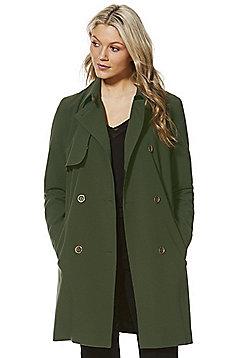 F&F Tie Waist Trench Coat - Khaki
