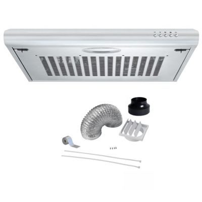 Cookology VISOR600SS 60cm Standard Kitchen Visor Cooker Hood | Extractor Fan in Stainless Steel with Filter
