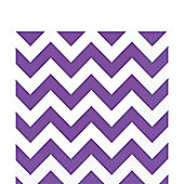 Purple Chevron Napkins - 33cm