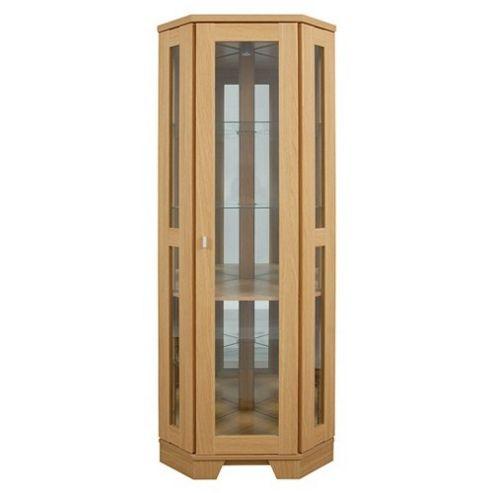Caxton Sherwood Credenza Corner Cabinet in Natural Oak