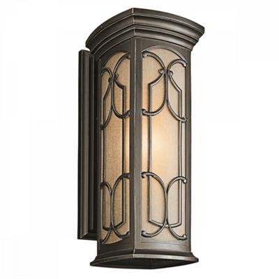 Olde Bronze Large Wall Lantern - 1 x 100W E27