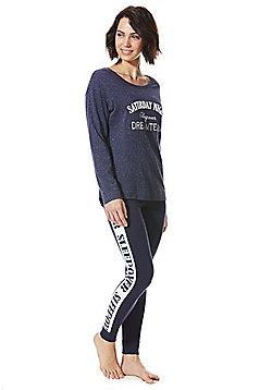 F&F Dream Team Slogan Pyjamas - Navy