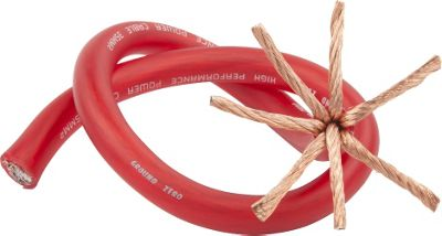 Ground Zero 2AWG Red Power Cable Spool 30M