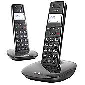 Doro Comfort 1010 Cordless Twin Phone - Black