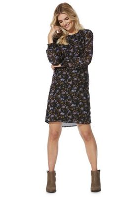 Vero Moda Floral Print Dress Black Multi S