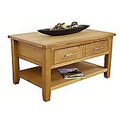 Nebraska - Oak Coffee Table With Storage / Oak 1 Drawer Coffee Table