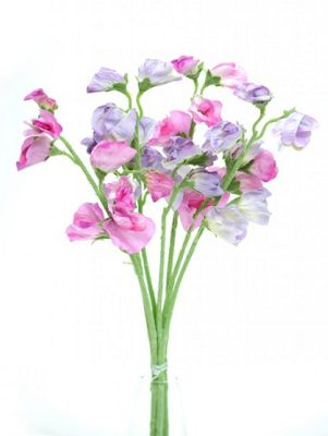 Artificial - Sweetpea Bunch - Lilac