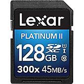 Lexar Platinum II 300x SDHC/SDXC UHS-I 128GB SDXC UHS Class 10 memory card