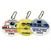 Star Wars Droids Personalised Christmas Tree Decorations set of 3 (OPTIONAL)