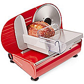 Andrew James Food Slicer with Three 19cm Multi Use Blades in Red