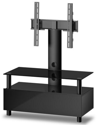 Sonorous Troy TV Cabinet in Black for up to 42 inch TVs