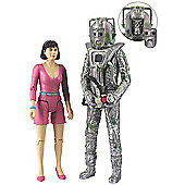 Doctor Who Exclusive Action Figure Set - Peri & Rogue Cyberman from 'The Attack of the Cybermen'